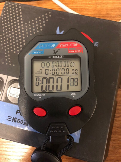 天福秒表 比赛计时器运动跑步倒计时 学生训练厨房记忆计时秒表三排60道PC560 晒单图