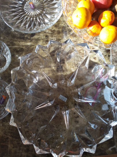 Delisoga 玻璃水果盘 创意冰恋款深盘 大号大容量 欧式果斗糖果干果篮 坚果零食沙拉碗 客厅家用礼品装饰 晒单图
