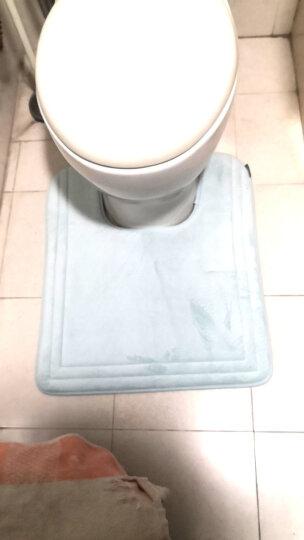 【JM静猫】出口欧美舒适马桶脚垫吸水垫浴室U型地垫厕所卫生间防滑垫坐便器踩脚垫子速干海绵可机洗 天蓝色【U型垫速干】 晒单图