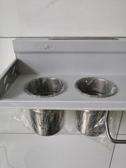 希箭 /HOROW 304不锈钢厨房置物架调料盒壁挂厨房收纳架刀架 50CM 双层 带筷子筒+带砧板架 晒单图