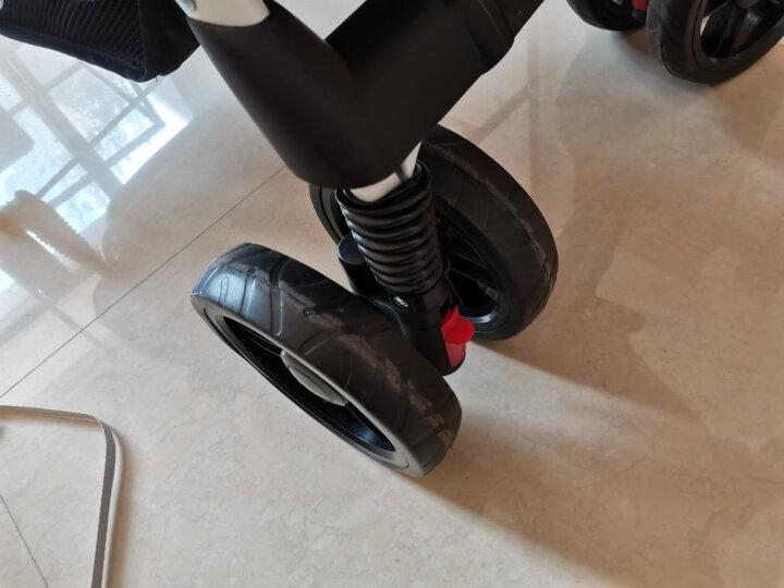 神马 shinema轻便双胞胎婴儿推车 可折叠两个位置可坐可躺龙凤胎 避震双人童车758 雅致灰 晒单图