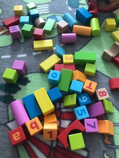 Hape玩具积木大颗粒木头宝宝桶装拼装stem字母数字积木1-3岁男女孩婴儿童礼物早教益智 E8402 80粒桶装数字积木 晒单图