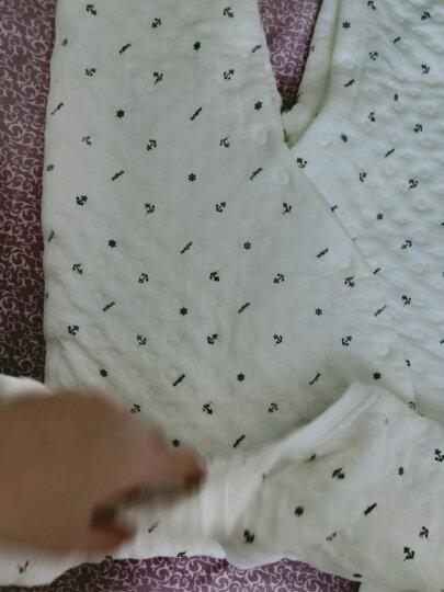 童泰保暖内衣婴儿衣服秋冬季0-2岁宝宝连体哈衣 蓝色 73码(6-12个月) 晒单图
