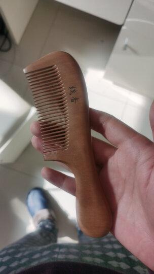 紫韵梳香 配赠洗脸刷 大号高弹橡胶气垫气囊按摩梳子 圆形实木榉木柄 原木梳针款 QN-2 晒单图