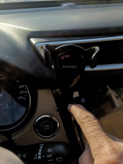 飞利浦 DLK35002 多功能手机支架 吸盘+出风口两用适用于车载/桌面/床头/360度导航支架 白色 晒单图