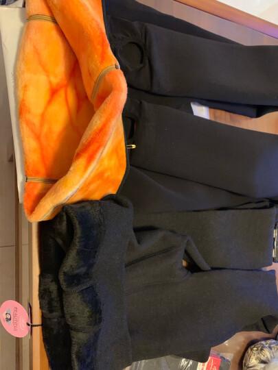 浪莎加绒加厚双层保暖裤女 2019年新款修身棉裤高腰打底裤袜 羊羔绒冬季超厚保暖裤外穿女冬厚 黑色 均码复合一体踩脚(80-130斤) 晒单图