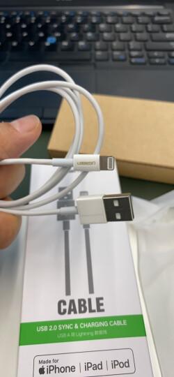 绿联 数据线保护套 通用苹果iPhone11Pro/Xs Max/XR/X/8P/7P充电器线咬线器保护头网尾防折断裂保护 40705白 晒单图