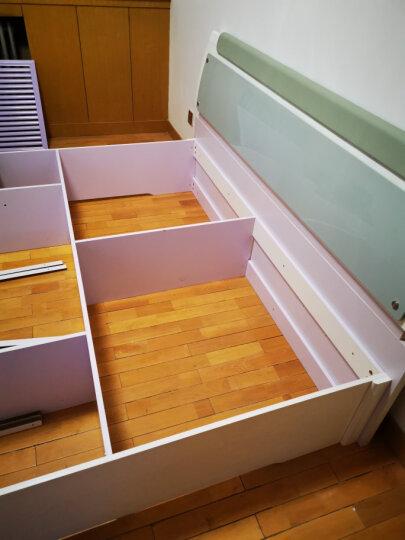宫殿威仪 床双人床1.8米2.0米现代简约气动储物床主卧室烤漆床高箱床板式床 排骨架床+床头柜*1+弹簧床垫 1800*2000 晒单图
