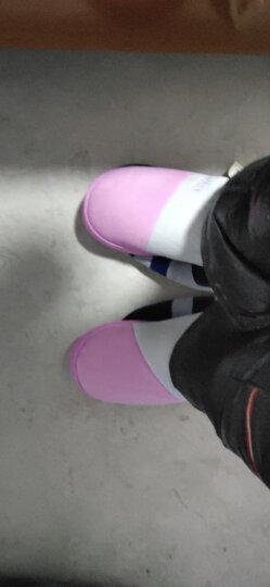 乐拖情侣棉拖鞋男女室内防滑保暖冬天拖鞋加绒半包跟 防水款-灰色 42/43(建议41/42穿) 晒单图