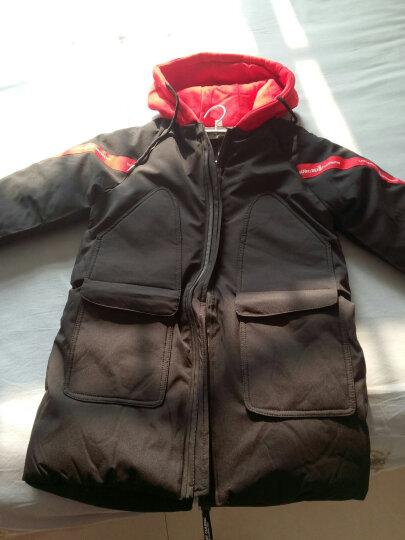 圣笑 男女童冬款棉衣外套 新款中大儿童棉袄3-15岁棉服 拼色棉袄橘红色 130码建议身高120cm 晒单图