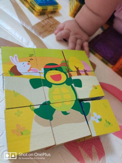 木马智慧 9粒大块积木拼图立体六面画带故事书玩具木制拼装婴幼儿童宝宝男孩女孩早教启蒙玩具 晒单图