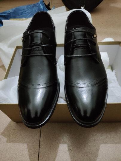 七匹狼男鞋2021夏季新款商务男士休闲皮鞋低帮系带休闲正装鞋男士皮鞋休闲鞋 棕色 40 晒单图