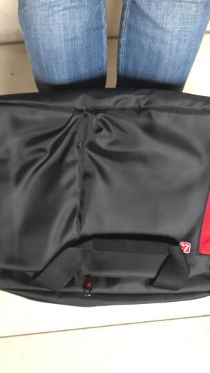 简约商务公文包13.3寸14寸15.6寸笔记本电脑包 黑色版有侧袋有usb 晒单图