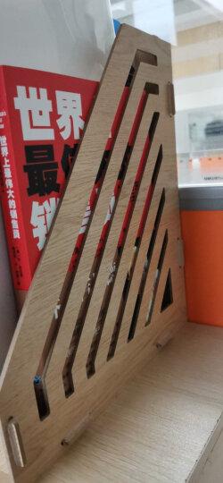 得力(deli)两联多功能组合桌面文件框 纤维板创意拼装文件栏收纳盒文件架 办公用品 9842 晒单图