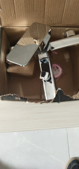 尊驰(ZUNCHI) 方形冷热浴缸龙头三联混水阀淋浴龙头卫生间暗装入墙式水龙头3014 晒单图