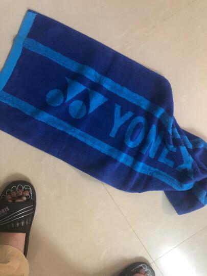 尤尼克斯YONEX专业运动毛巾全棉柔软透气吸汗羽毛球浴巾AC1206CR蓝色 晒单图