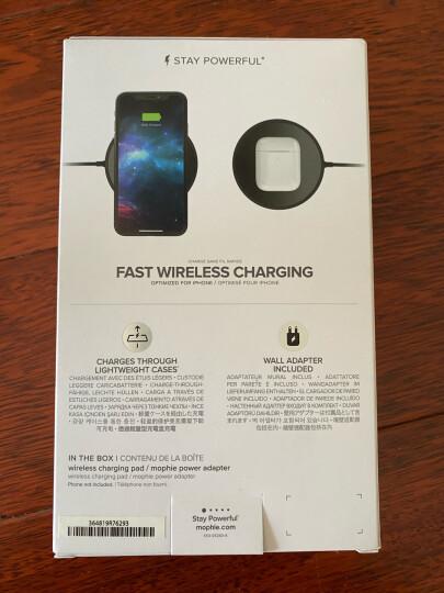 Mophie苹果12无线充电器10w快充版适用华为三星iPhone12pro/Max含充电插头 黑色镜面(可充airpods2) 7.5w苹果在售同款无线充电器 晒单图