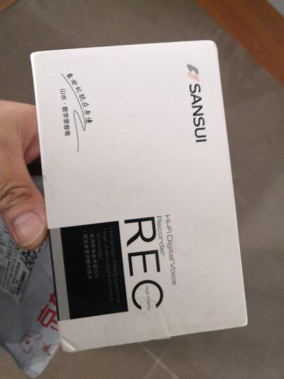 山水(SANSUI)录音笔 迷你微型会议降噪隐形取证超长录音MP3播放器 H-612 16G 黑色 晒单图