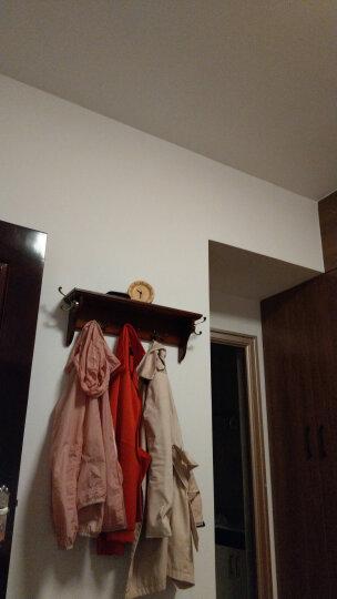 本来设计闹钟北欧原木摆钟创意时尚座钟学生静音床头时钟 榉木数字闹钟 晒单图