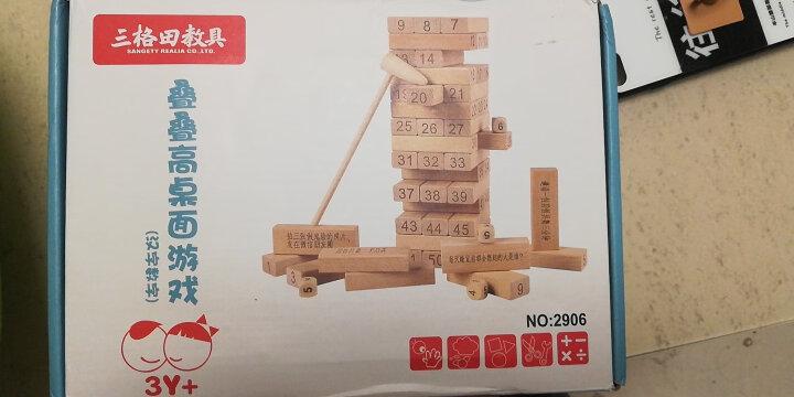 三格田(SANGTY)木制叠叠高抽积木层层叠叠乐智力玩具平衡游戏数字抽积木质拼装儿童 (2908儿童)54片汉字叠 晒单图