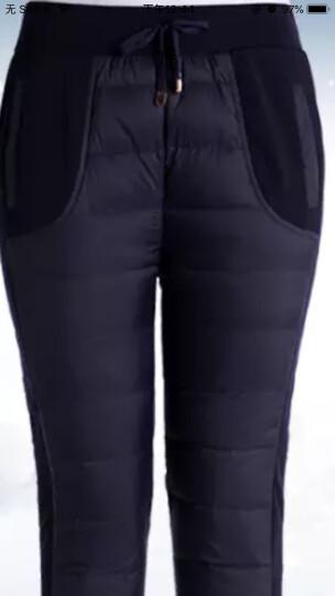 新款中老年人女装羽绒裤女士胖妈妈加肥加大码棉裤冬装50-60奶奶老人加厚宽松外穿松紧中腰保暖鸭绒裤子 红色 3XL 155斤左右 晒单图