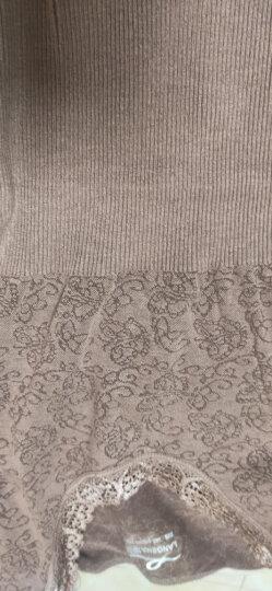 浪莎秋衣秋裤女莫代尔棉薄款舒适美体保暖内衣套装冬女士修身无缝打底衫 杏色 M(155-165) 晒单图