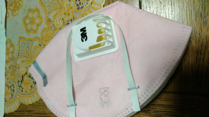 3M 口罩KN95防雾霾防花粉防柳絮 粉尘颗粒物防护 耳带式有呼气阀 防PM2.5 9501C 粉色(3只/包) 晒单图