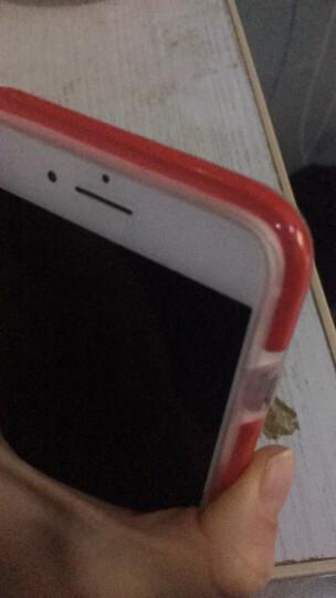 ESCASE 苹果7/8手机壳 iPhone7手机套 双色精密抗震 全包边硅胶软套彩色边框四角防摔2米ES-78曜石黑 晒单图