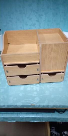 信发(TRNFA)TN-MS802 木塑PVC液晶电脑显示器支架增高架 办公桌面置物架 收纳盒 晒单图