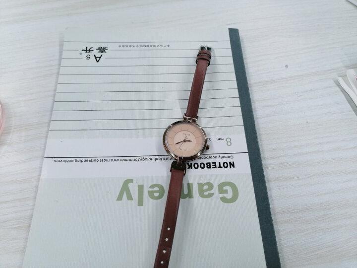 聚利时(Julius)新款皮革表带小表盘手表简约时尚薄款石英时装女表防水学生表 JA-864 咖色 晒单图