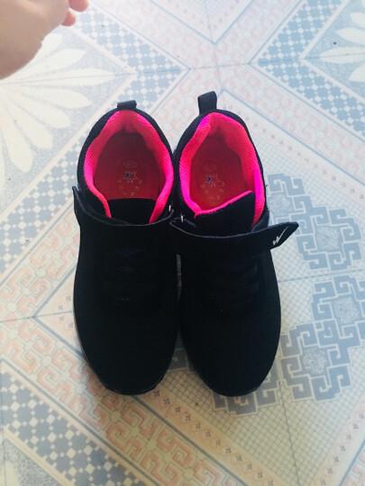 双星老人鞋中老年健步鞋女鞋妈妈鞋春季透气运动鞋休闲鞋 9222 黑玫红 38 晒单图