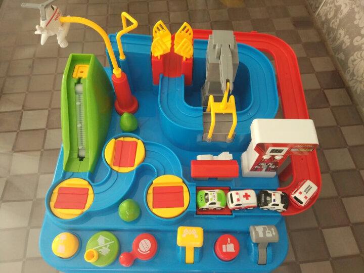 盟石汽车闯关大冒险轨道车停车场创意火车益智儿童玩具套装男孩礼物3-6岁 大黄蜂单件套装(战枪) 晒单图