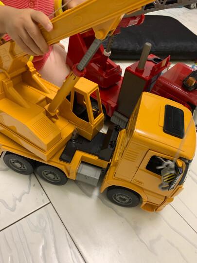 双鹰(DOUBLE E)手动滑行工程车水泥搅拌车(1:20)工程模型儿童玩具车男孩礼物 E228-002 晒单图
