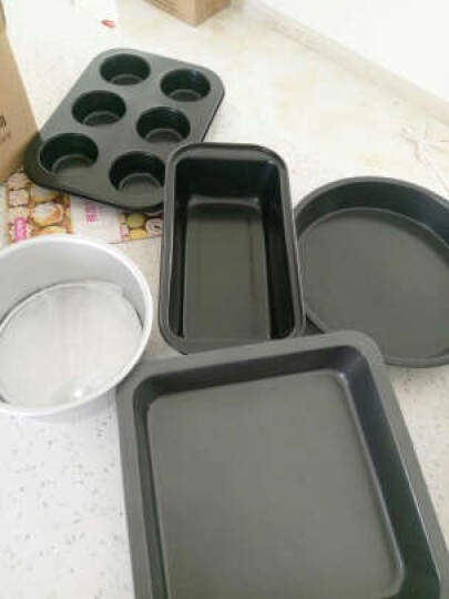 拜杰(Baijie)烘焙工具套装 蛋糕模具 披萨盘 土司盒 蛋挞模具 12连蛋糕模 不粘蛋糕模具 晒单图