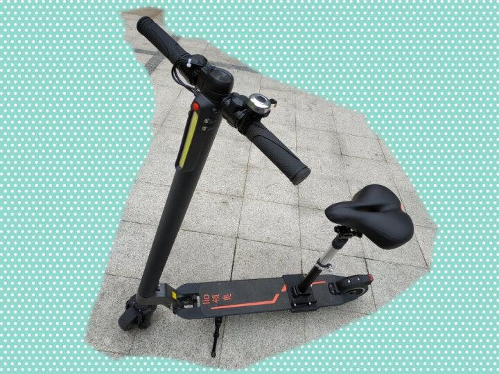 驰致(CHEAZHEY) 5.5吋/6吋轮常规电动滑板车通用座椅通用坐垫 可折叠减震鞍座滑板车车座 黑色 晒单图