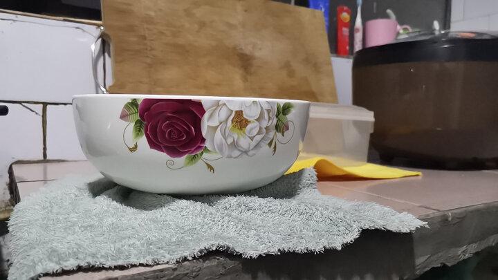万毅陶瓷餐具 陶瓷碗套装(8英寸)大面碗陶瓷大汤碗韩式陶瓷泡面碗套装(2只装) 今生最爱 晒单图