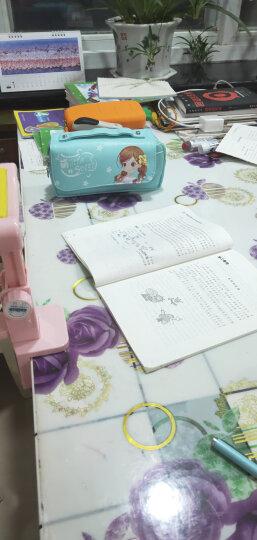 猫太子(MAOTAIZI)笔袋手挽大容量翻盖文具袋小学生铅笔盒女生文具盒韩版铅笔袋 质感黑 晒单图