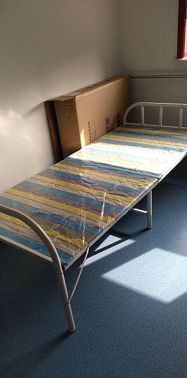 赛森 折叠床单人床午休床行军床办公室午休睡铁艺床加固木板陪护床 条纹款80CM宽 晒单图
