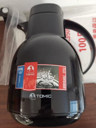 特美刻TOMIC保温壶家用 暖壶水壶热水瓶暖瓶大容量玻璃内胆英伦时尚咖啡壶 黑色1L 晒单图