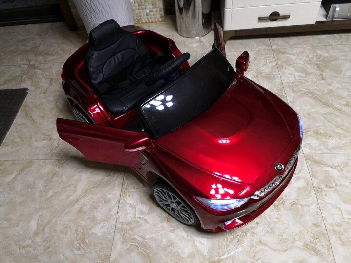 米蚁(MiYi)婴儿童电动车可坐人四轮遥控汽车摇摆小孩宝宝玩具童车男女幼儿车 【升级红色】蓝牙音乐+遥控+摇摆+皮座 晒单图