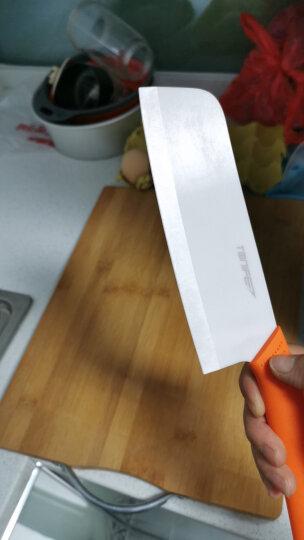 途耐(TONIFE) TONIFE途耐 雅致6寸纳米氧化锆陶瓷菜刀 切片刀 中式菜刀 切肉刀 橙色 晒单图