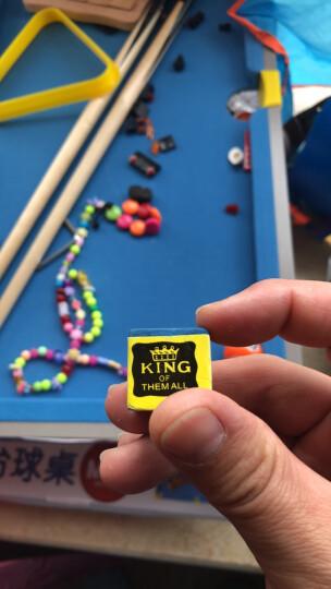 皇冠玩具(HUANGGUAN)儿童台球桌家用中型炫彩升级版木制台球桌儿童玩具黑8球男孩生日礼物222D儿童节礼物 晒单图