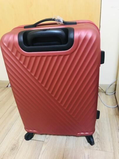 美旅拉杆箱 24英寸时尚商务男女行李箱 超轻万向轮旅行箱密码锁AX9砖红色 晒单图