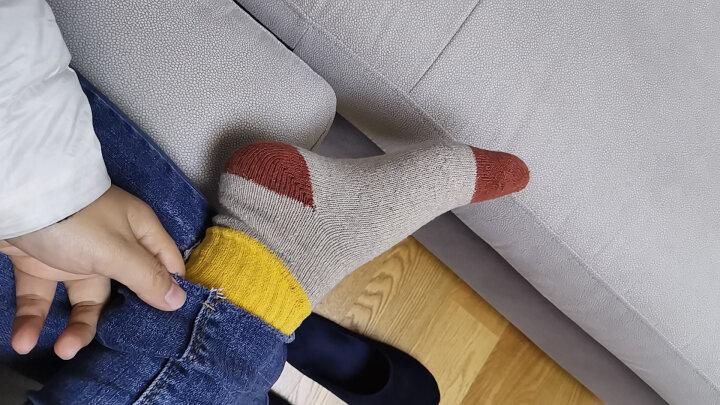 俞兆林【5双】秋冬加厚保暖兔羊毛袜子男女情侣袜子中筒日系女袜子 5双盒装 均码 晒单图