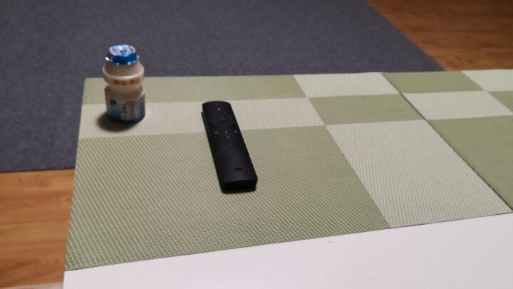 宝优妮厨房餐垫PVC隔热垫防滑餐桌垫餐厅西餐垫放餐具垫 绿色斜纹图案6片装DQ9034-6 晒单图