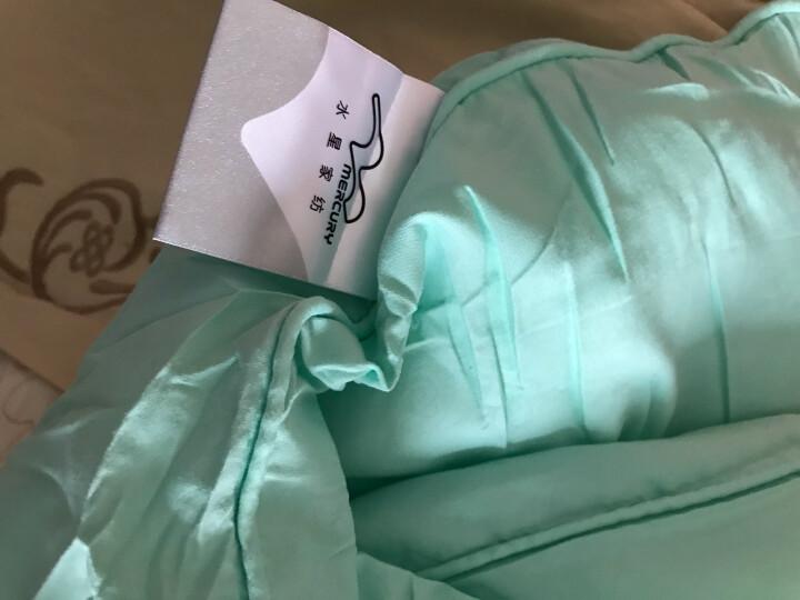 水星家纺 被子被芯床上用品 奥斯丁玫瑰四孔春秋被 儿童被加大单人被子150*210cm 白色 晒单图
