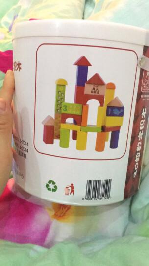 儿童积木玩具拼装搭大颗粒可啃咬启蒙女孩宝宝早教智力婴幼儿童男孩1一至2二两到三3-6-9周岁生日礼物 60粒数字字母积木(桶装) 晒单图