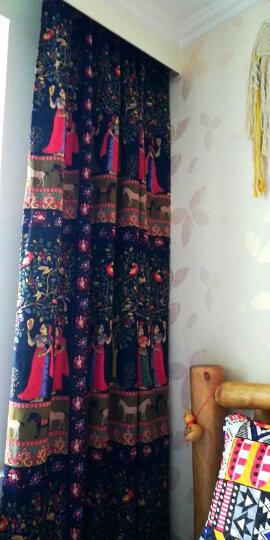 棉麻布料服装面料复古中国风名族印花旗袍薄麻桌布民族风布料 #23水墨彩蝶 晒单图