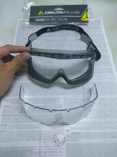 代尔塔 防护眼镜 防沙风护目镜 透明镜片 防冲击防雾防化防飞溅 劳保骑行挡风眼罩101104 透明 晒单图