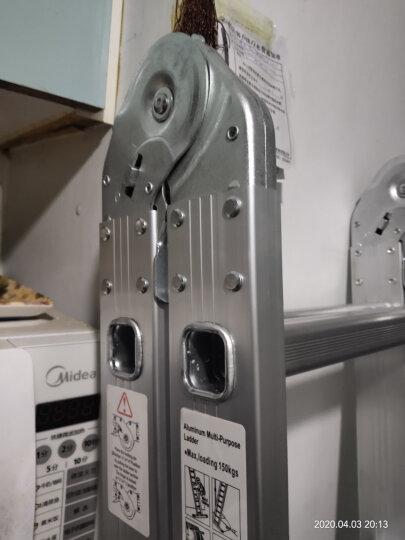 创步(CHUANGBU) 创步家用多功能折叠梯子铝合金加厚人字梯双侧梯六步七步梯登高凳子 特厚大关节款-直梯4米人字梯2米+工作台 晒单图